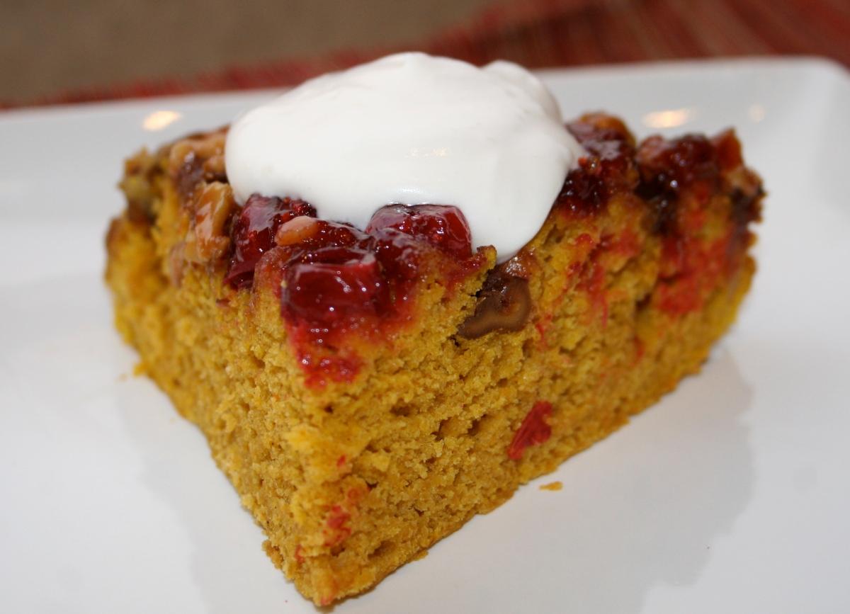 Upside-Down Cranberry Rumpkin Skillet Cake